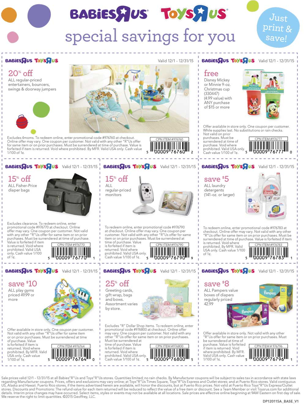 Toys R Us Coupon December 2016 Free Disney cup & various baby related coupons for Toys R Us & Babies R Us