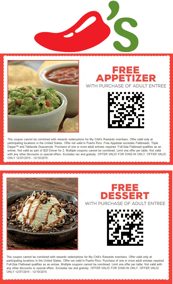 image about Chilis Printable Coupon identify Chilis dessert coupon december 2018 - Tree clics coupon