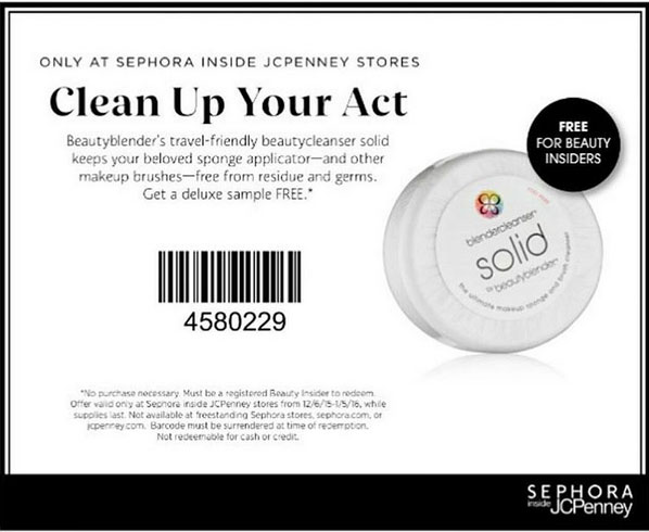 Free Sample: makeup applicator storage in-store at Seph Coupon March 2017 Free Sample: makeup applicator storage in-store at Sephora