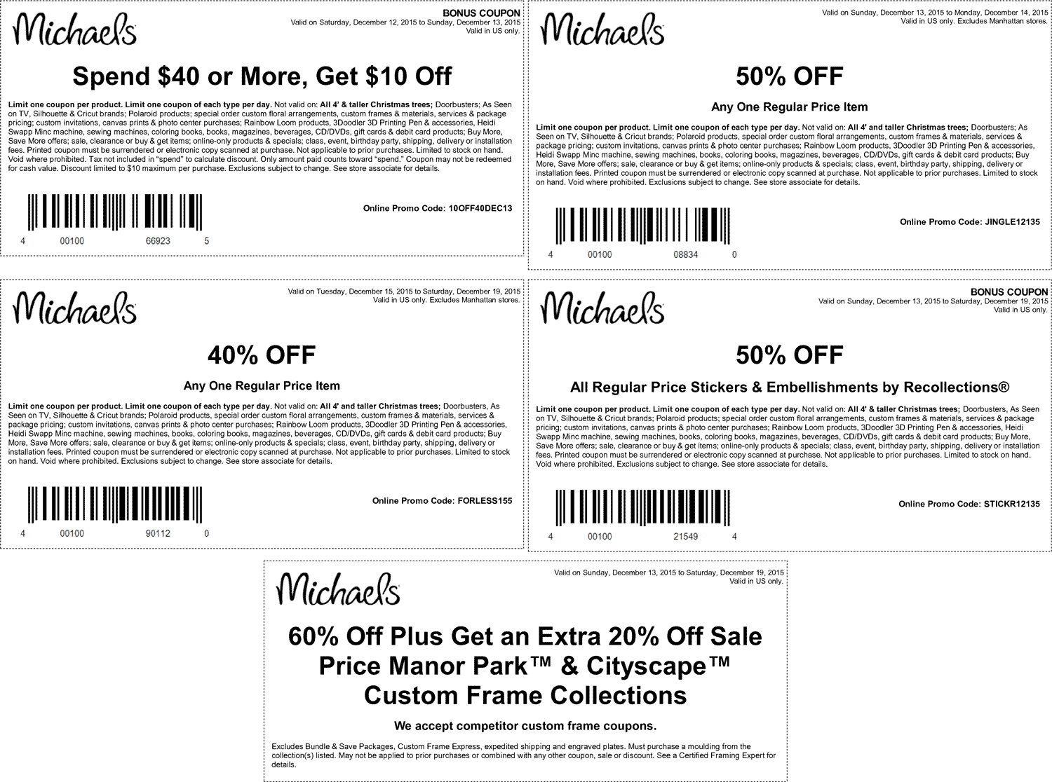Michaels Coupon October 2016 50% off a single item & more at Michaels, or online via promo code JINGLE12135