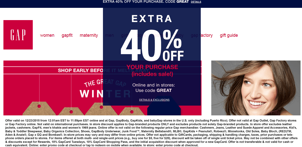 Gap Coupon June 2017 40% off today at Gap, or online via promo code GREAT