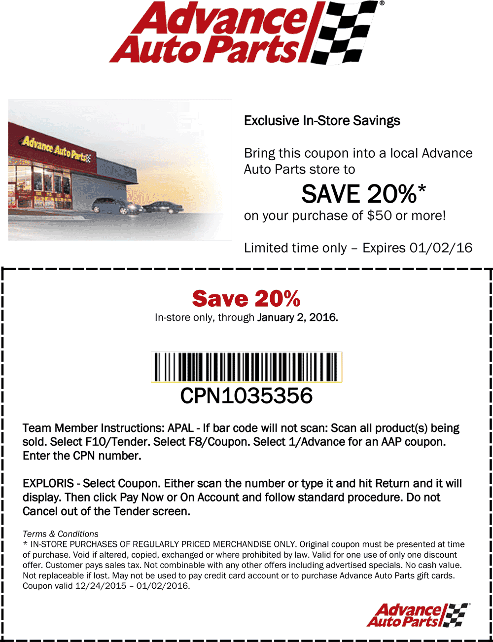 Advance Auto Parts Coupon May 2017 20% off $50 at Advance Auto Parts, or online via promo code NY51