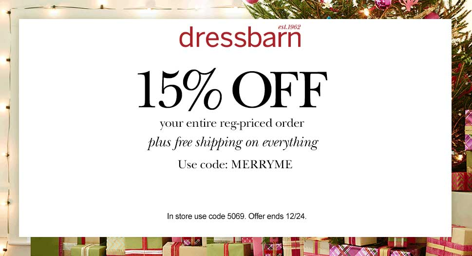 Dressbarn Coupon February 2017 15% off today at Dressbarn, or online via promo code MERRYME