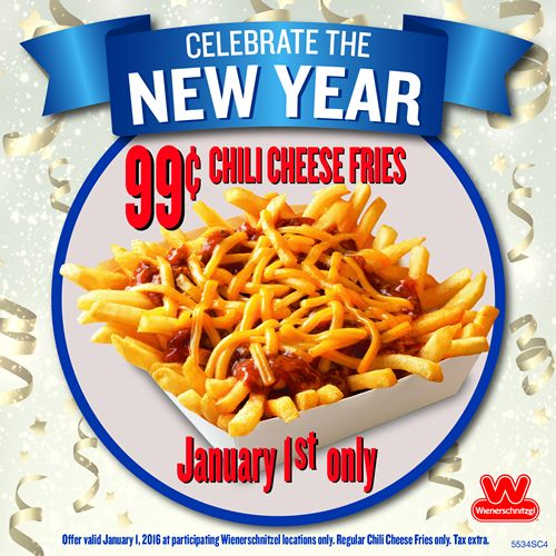 Wienerschnitzel Coupon February 2019 Chili cheese fries for $1 buck Friday at Wienerschnitzel
