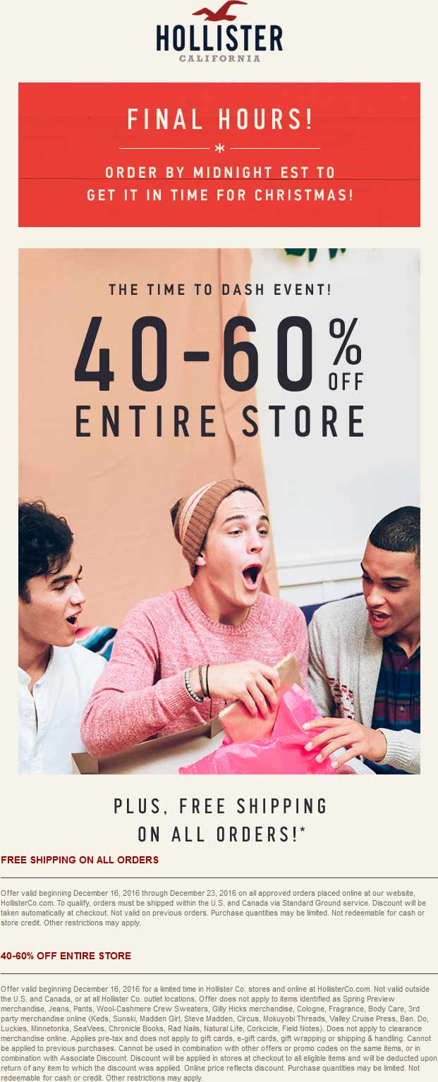 Hollister Coupons Printable | Bourseauxkamas pertaining to Hollister  Printable Coupons 16145