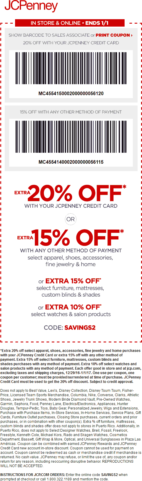 JCPenney Coupon August 2018 15% off at JCPenney, or online via promo code SAVINGS2