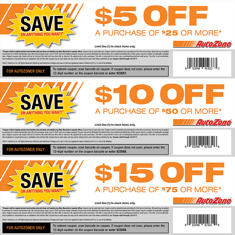 This is a graphic of Priceless Autozone Printable Coupon 2020