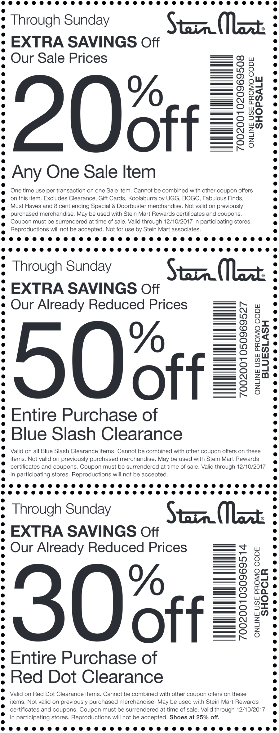 Stein Mart Coupon April 2018 50% off clearance & more at Stein Mart, or online via promo code BLUESLASH