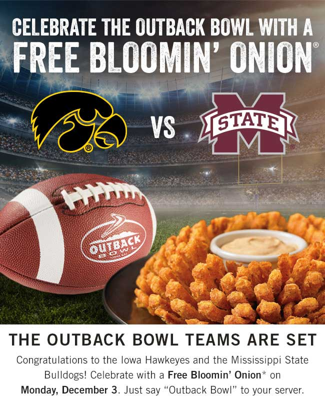 Outback Steakhouse Coupon January 2019 Free bloomin onion appetizer today at Outback Steakhouse