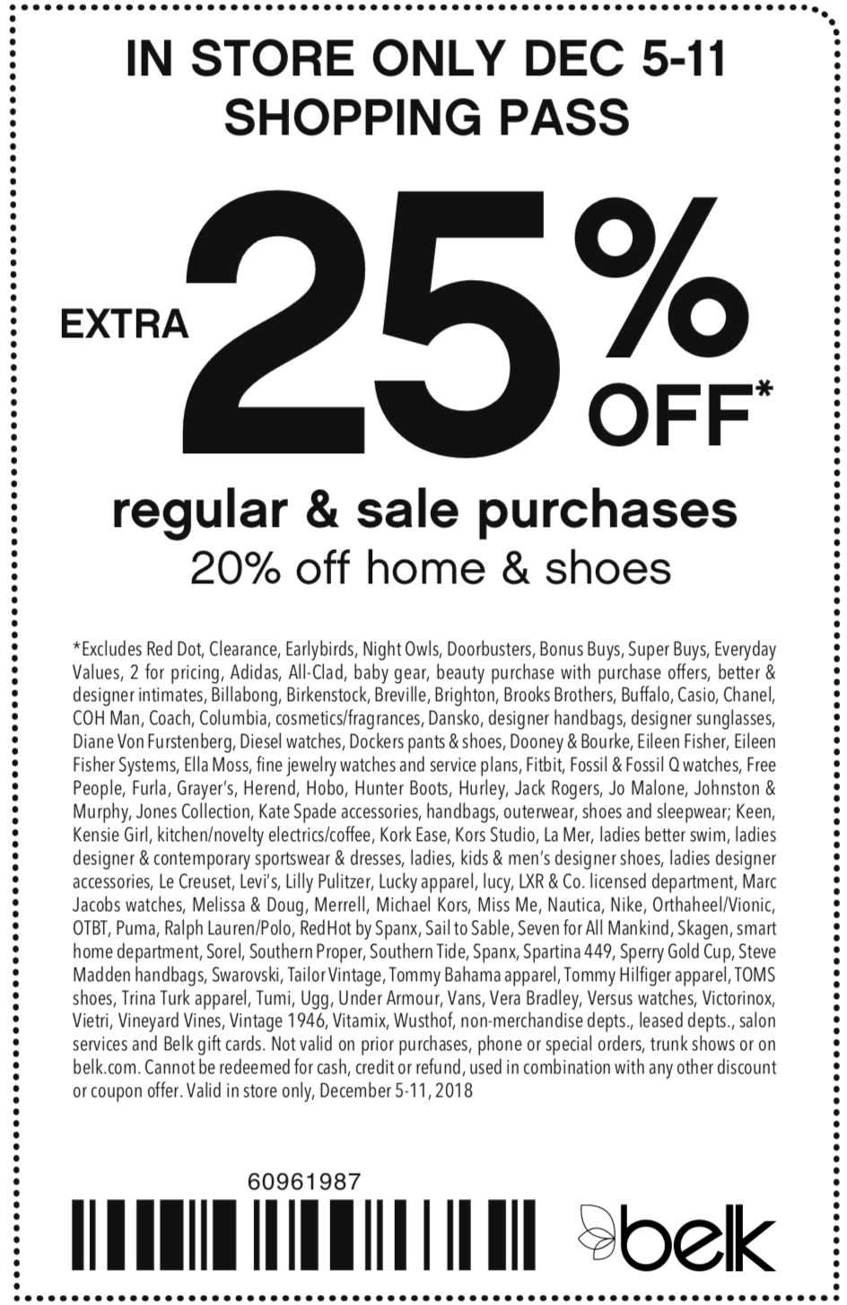Belk Coupon July 2019 25% off at Belk
