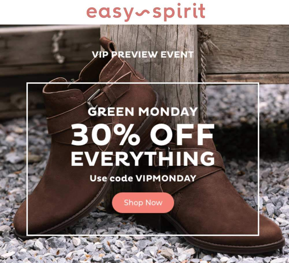 EasySpirit.com Promo Coupon 30% off everything online today at Easy Spirit via promo code VIPMONDAY