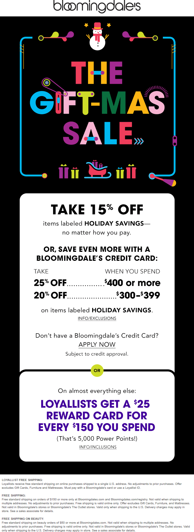 Bloomingdales Coupon July 2019 15% off & more at Bloomingdales
