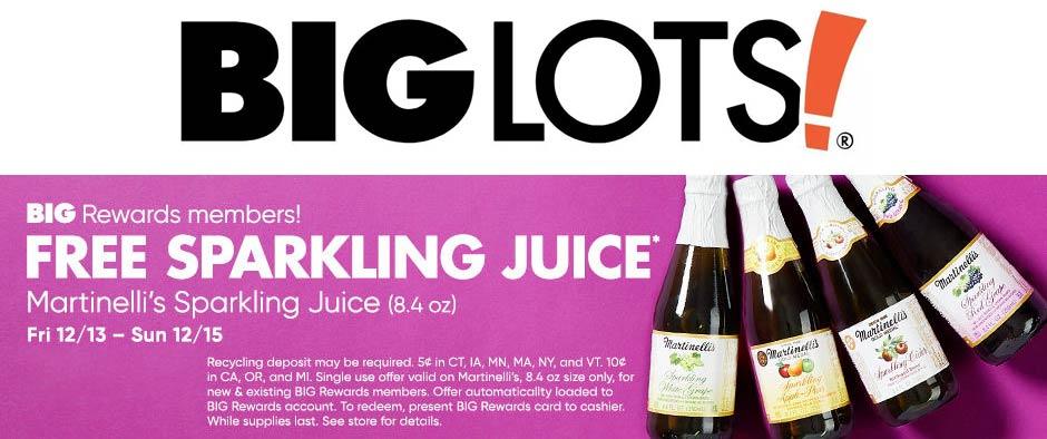 Big Lots Coupon January 2020 Free sparkling juice today at Big Lots