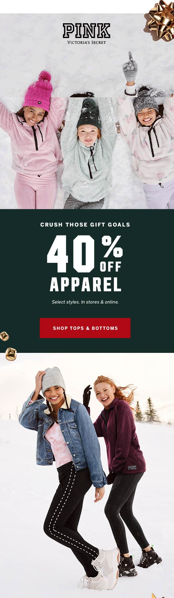 PINK Coupon January 2020 40% off apparel at PINK, ditto online