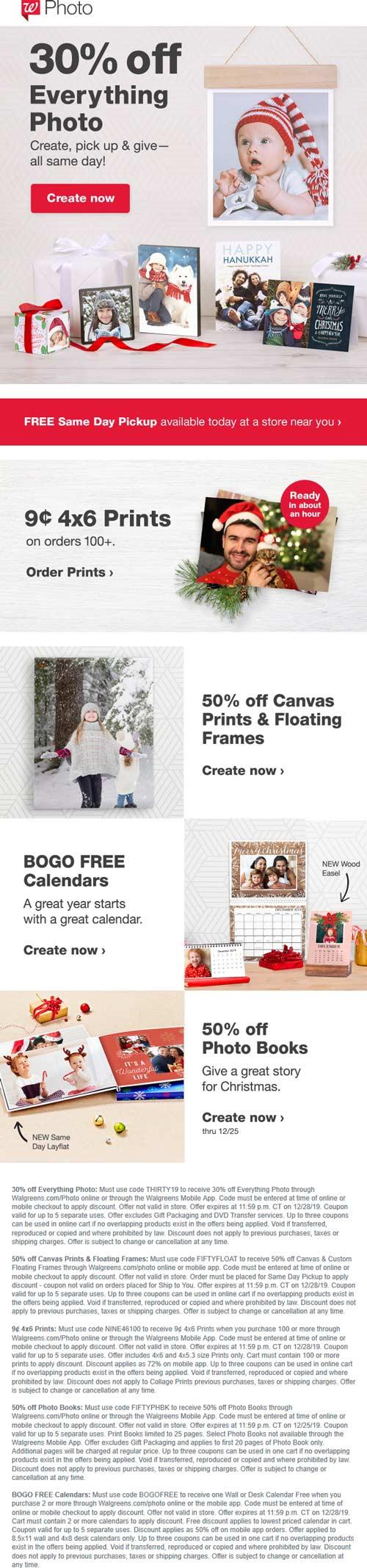 Walgreens Coupon January 2020 Same-day custom photo gifts 30-50% off at Walgreens
