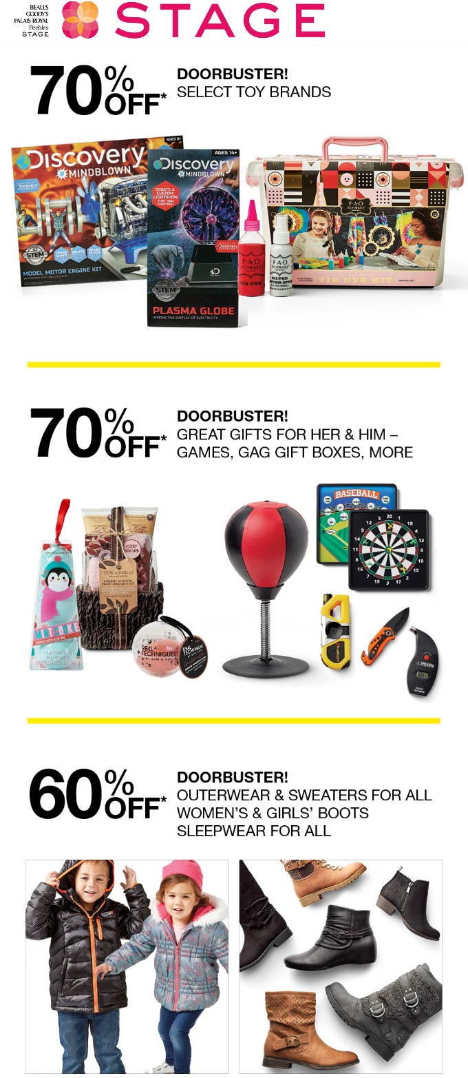 Stage Coupon January 2020 60-70% off at Stage stores