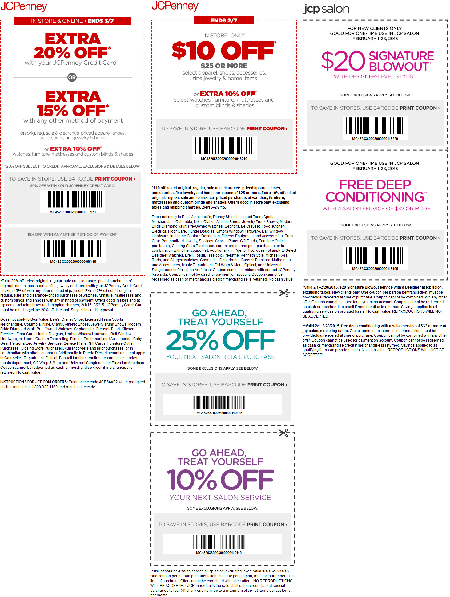 JCPenney Coupon May 2018 15% off apparel, 10-25% at the salon & more at JCPenney, or online via promo code JCPSAVE2