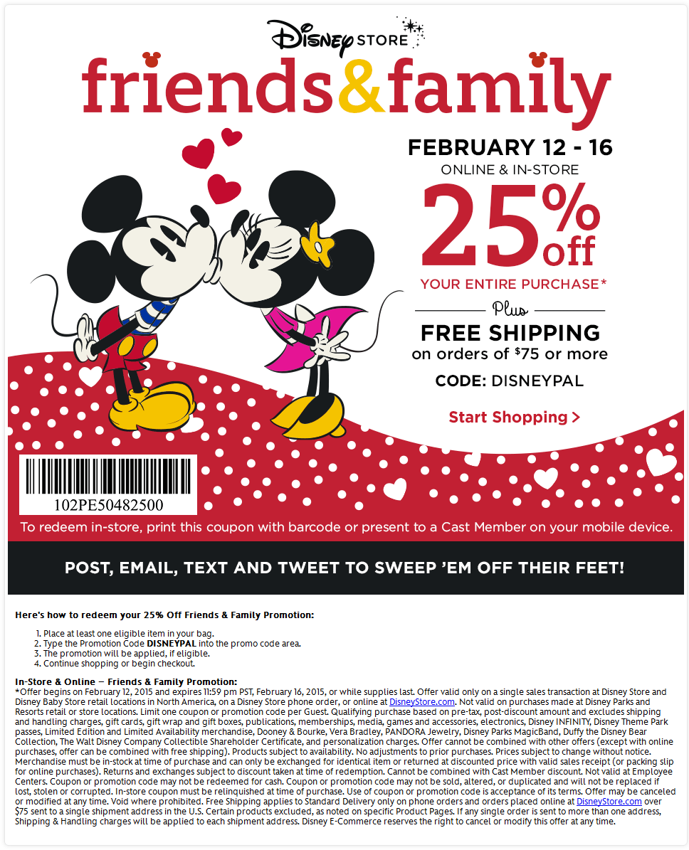 Disney Store Coupon September 2018 25% off at Disney Store, or online via promo code DISNEYPAL