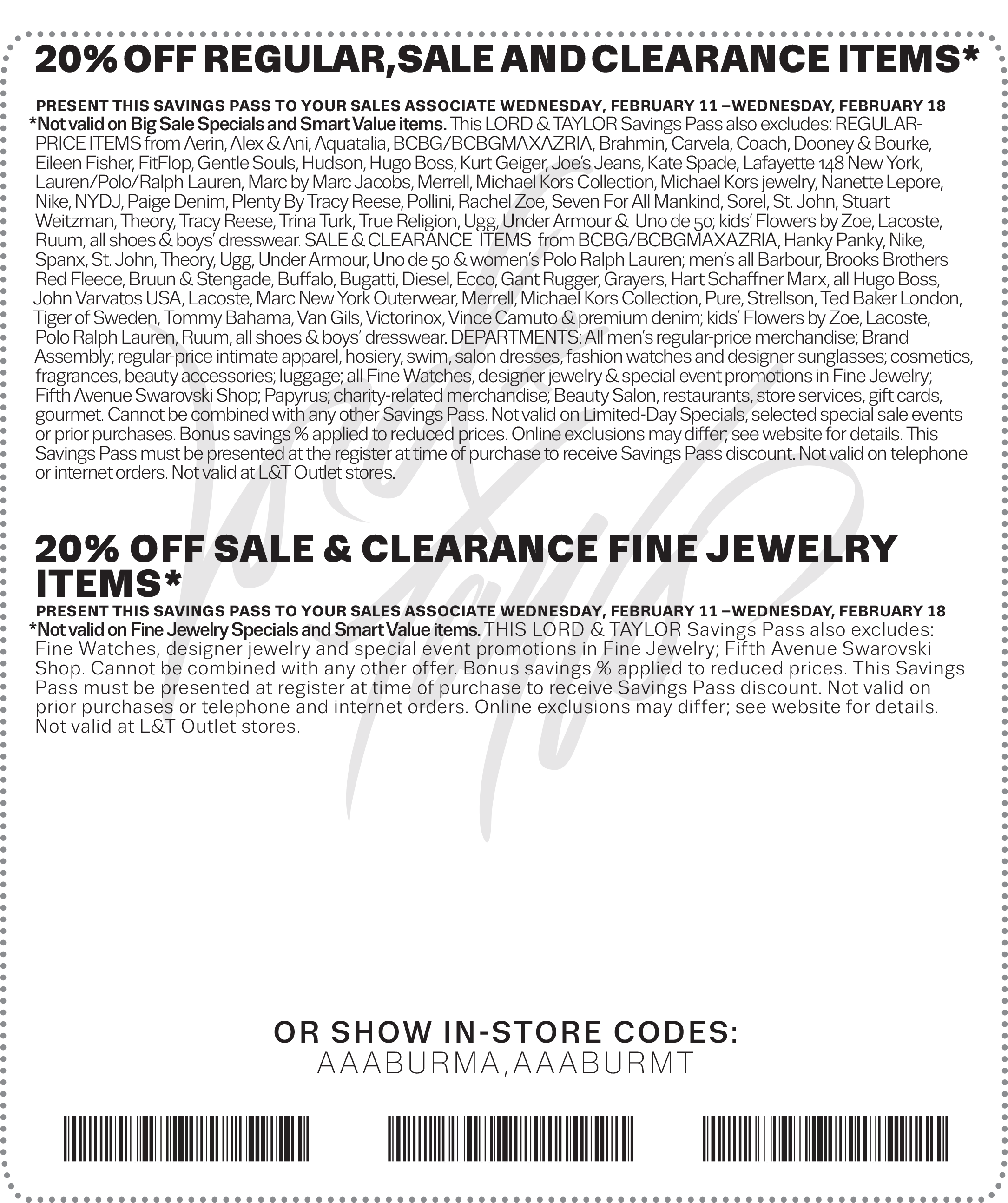 Lord & Taylor Coupon March 2017 Extra 20% off at Lord & Taylor, or online via promo code PRESIDENT