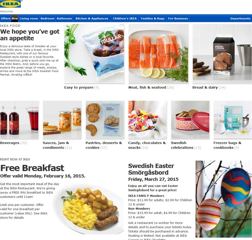 IKEA Coupon June 2017 Free breakfast Monday at IKEA
