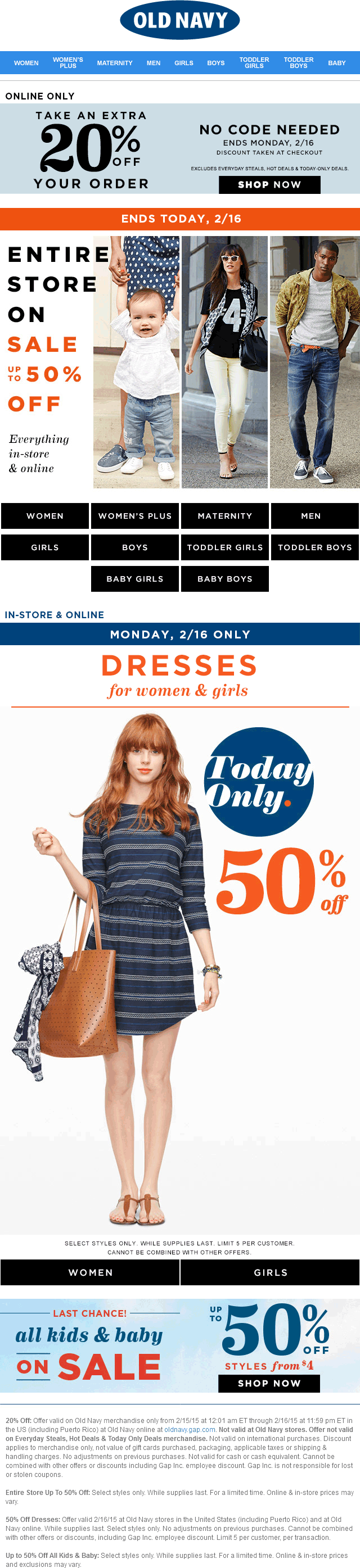 Old Navy Coupon September 2017 Dresses are 50% off +everything else is on sale today at Old Navy, ditto online