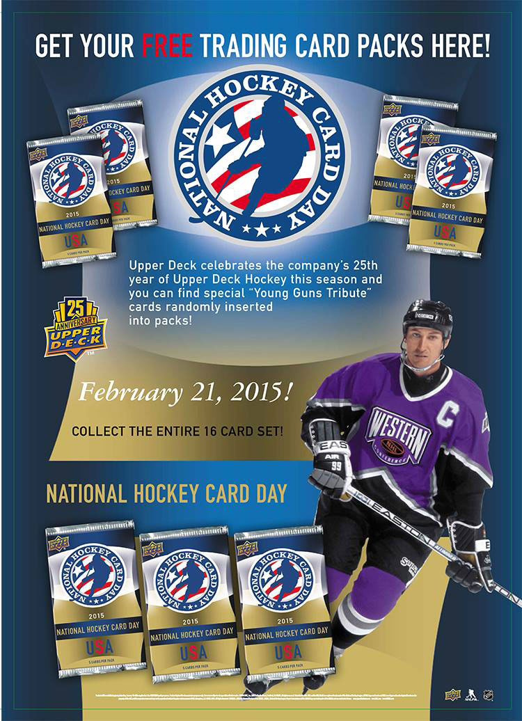 Upper Deck Coupon January 2019 Free pack of Upper Deck trading cards Saturday - tap graphic for locations PDF