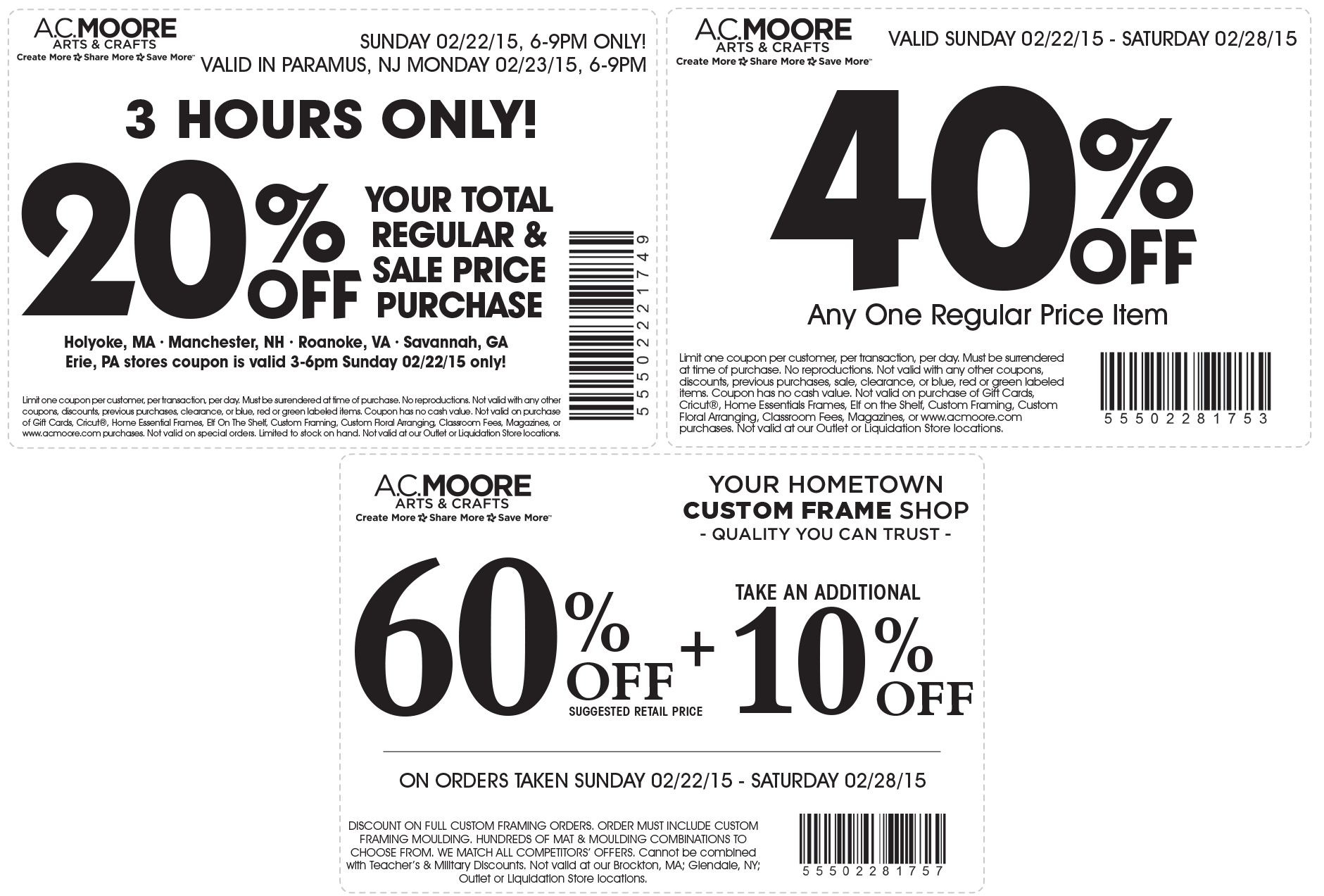 A.C. Moore Coupon May 2018 40% off a single item & more at A.C. Moore