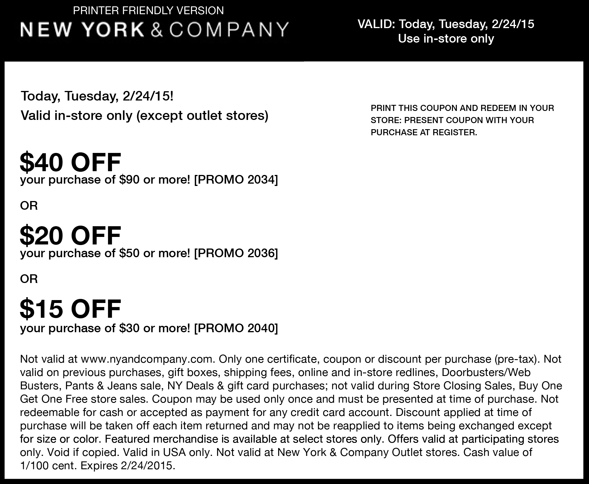 New York & Company Coupon November 2018 $15 off $30 & more today at New York & Company