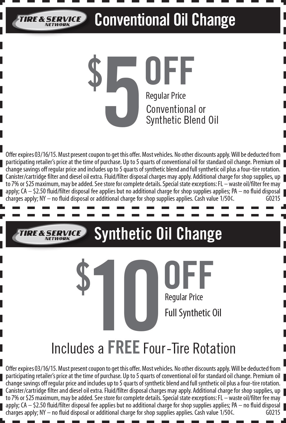 Goodyear Coupon May 2017 $5-10 off an oil change at Goodyear