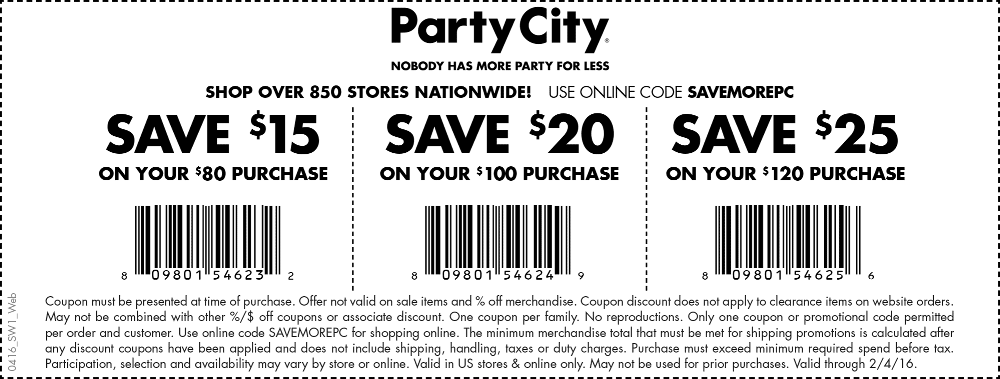 Party City Coupon January 2017 $15 off $80 & more at Party City, or online via promo code SAVEMOREPC