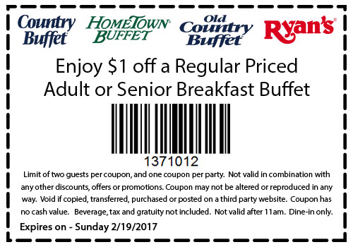 Old country buffet coupons 2019
