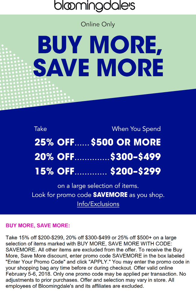 graphic regarding Bloomingdales Printable Coupons identify Bloomingdales Discount codes - 15-25% off $200+ on the net at