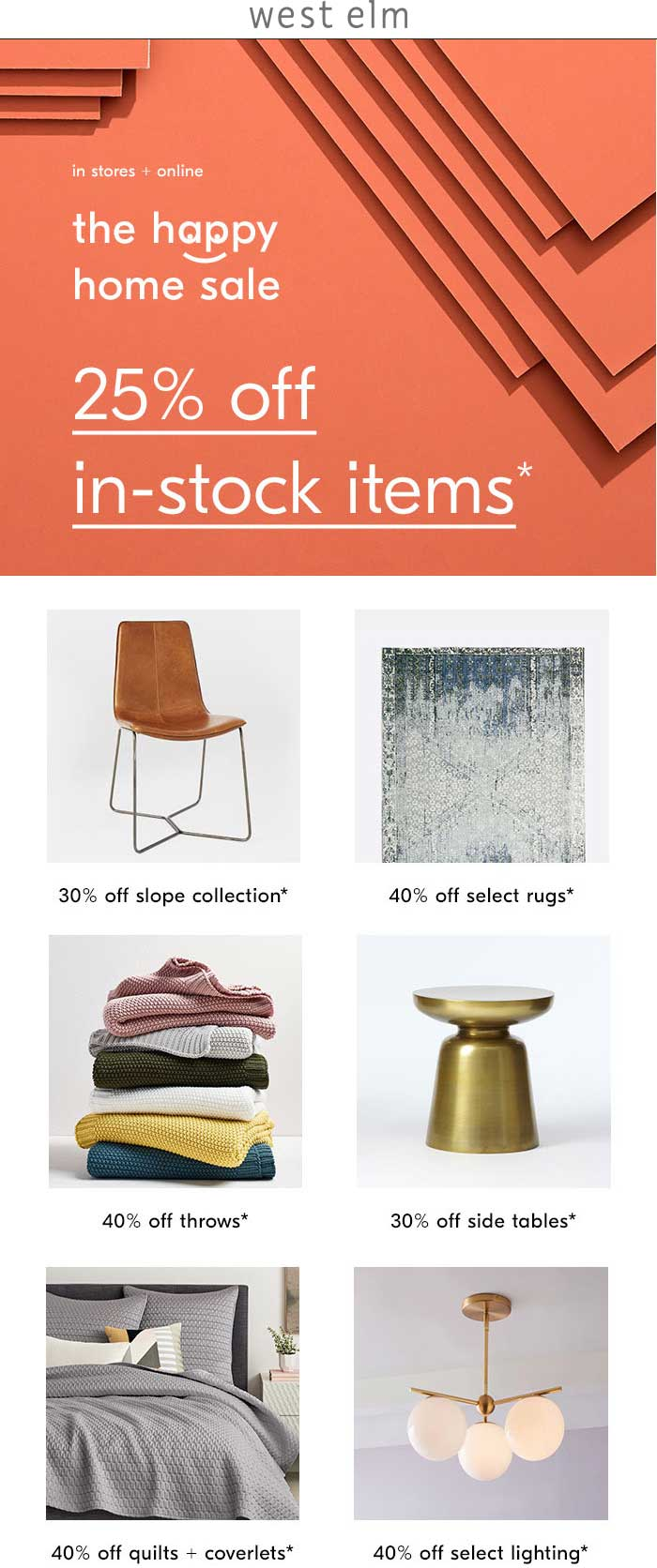 West Elm Coupon July 2019 25% off at West Elm, ditto online