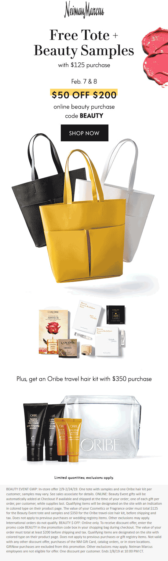 Neiman Marcus Coupon March 2019 Free tote & more at Neiman Marcus, or online via promo code BEAUTY
