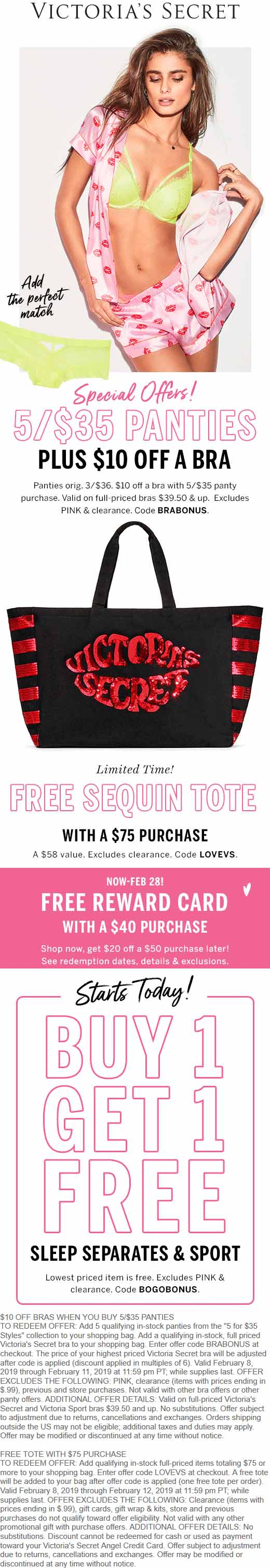 Victorias Secret Coupon January 2020 Free sequin tote with $75 spent online at Victorias Secret via promo code LOVEVS