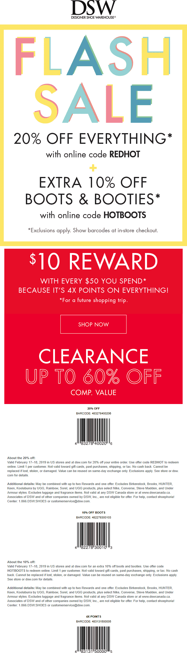 DSW Coupon December 2019 20% off today at DSW shoes, or online via promo code REDHOT
