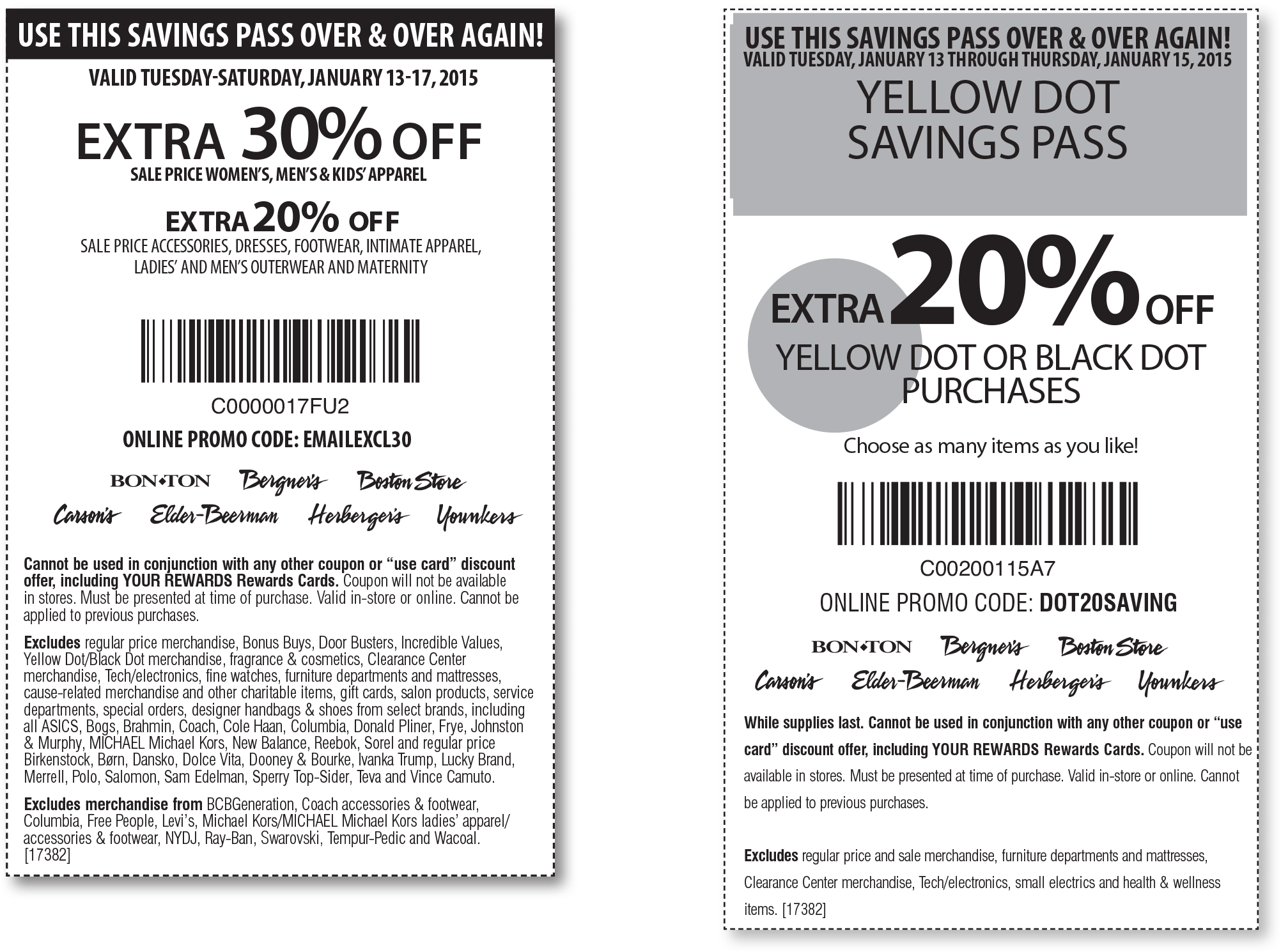 Bon Ton Coupon August 2017 Extra 30% off sale apparel at Carsons, Bon Ton & sister stores, or online via promo EMAILEXCL30