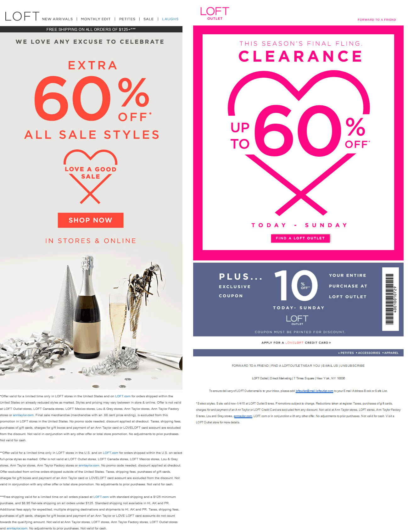 LOFT Coupon August 2018 Extra 60% off sale items at LOFT & LOFT Outlet, ditto online