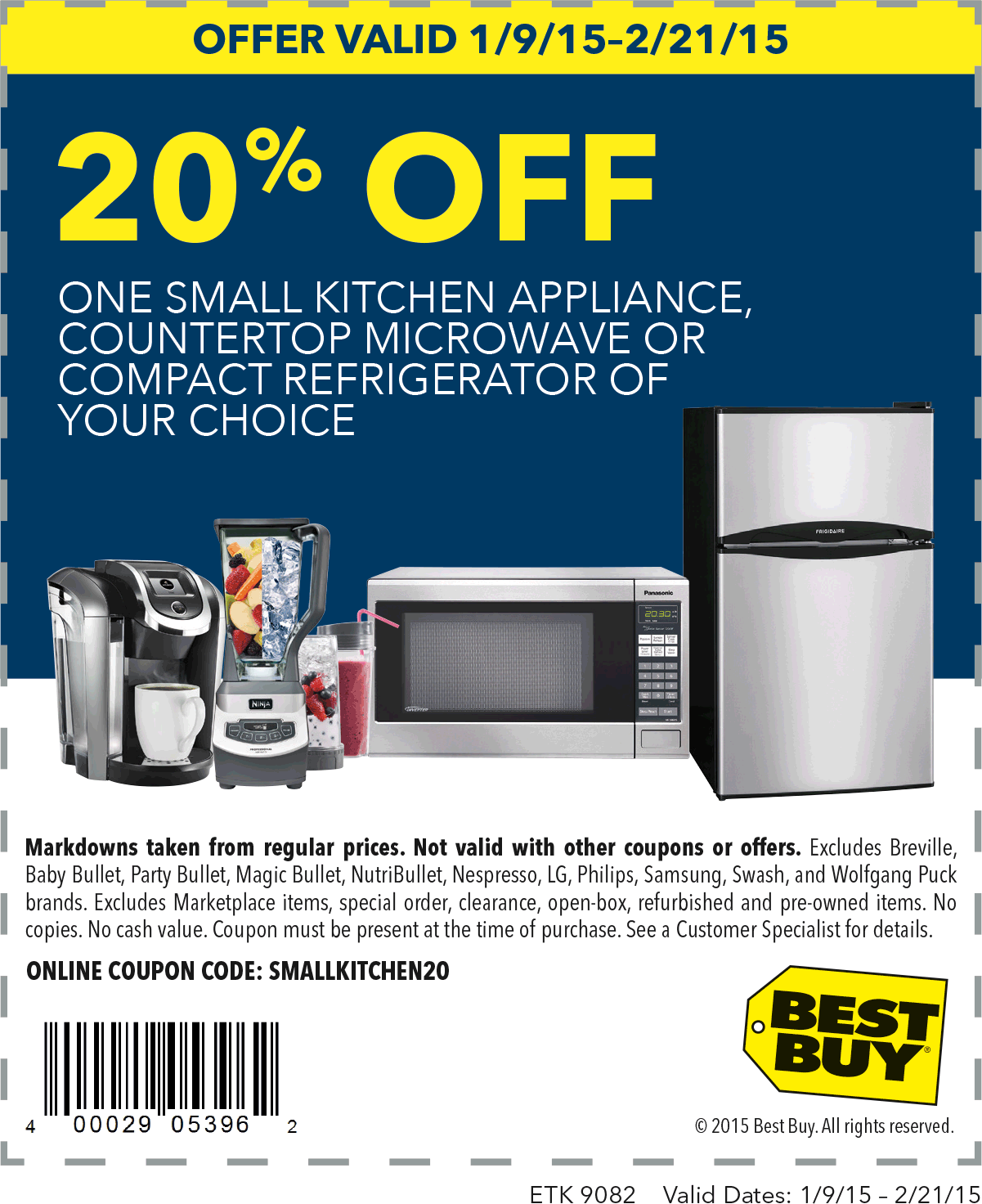 Best Buy Coupon January 2018 20% off small appliances at Best Buy, or online via promo code SMALLKITCHEN20