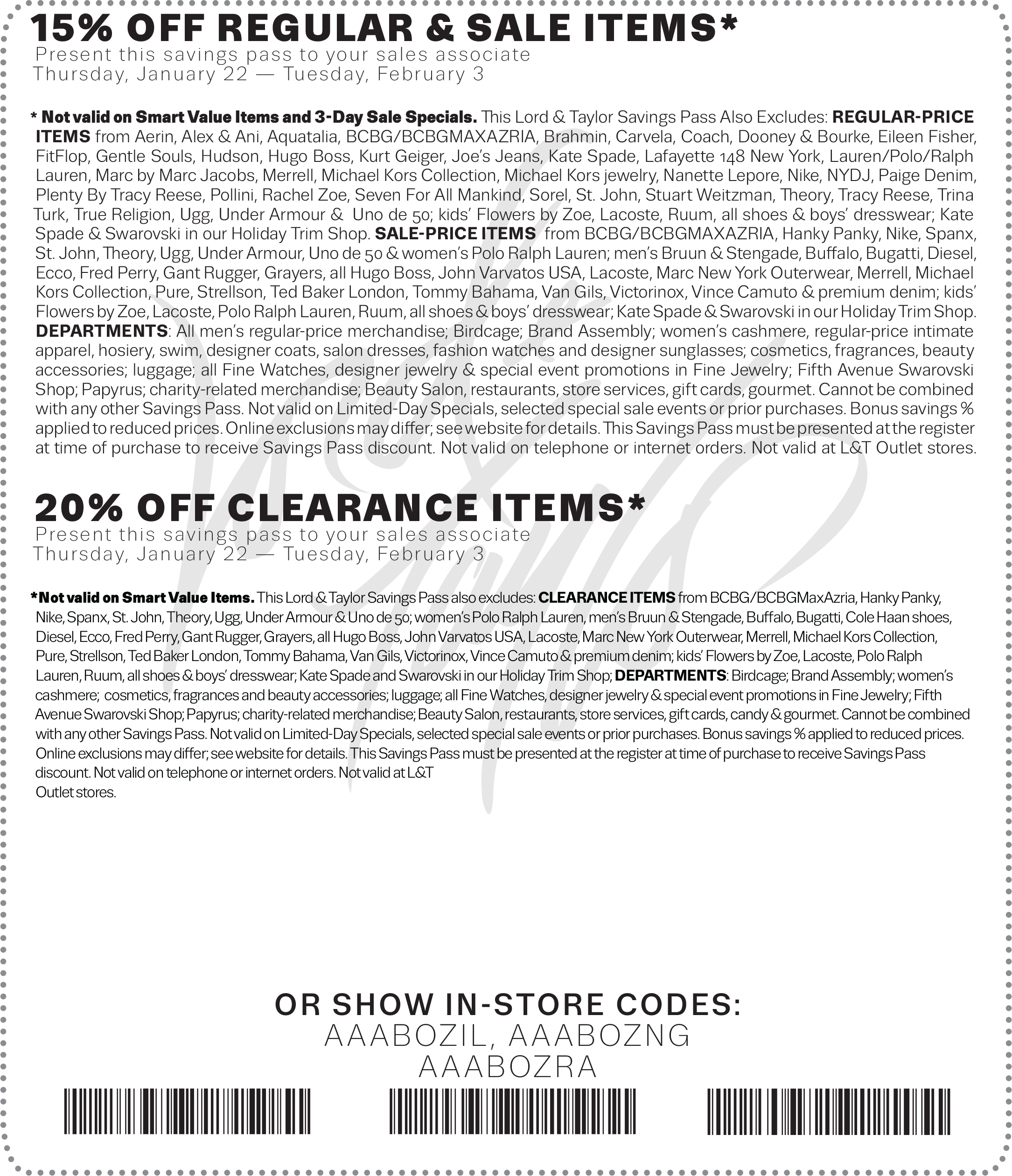 Lord & Taylor Coupon May 2017 15-20% off at Lord & Taylor, or online via promo code FINAL