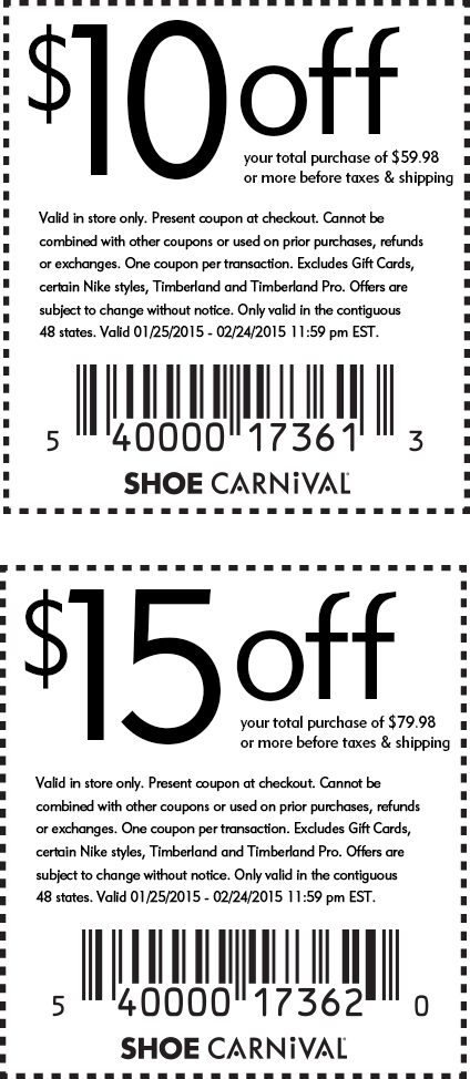 Shoe Carnival Coupon February 2017 $10 off $60 & more at Shoe Carnival