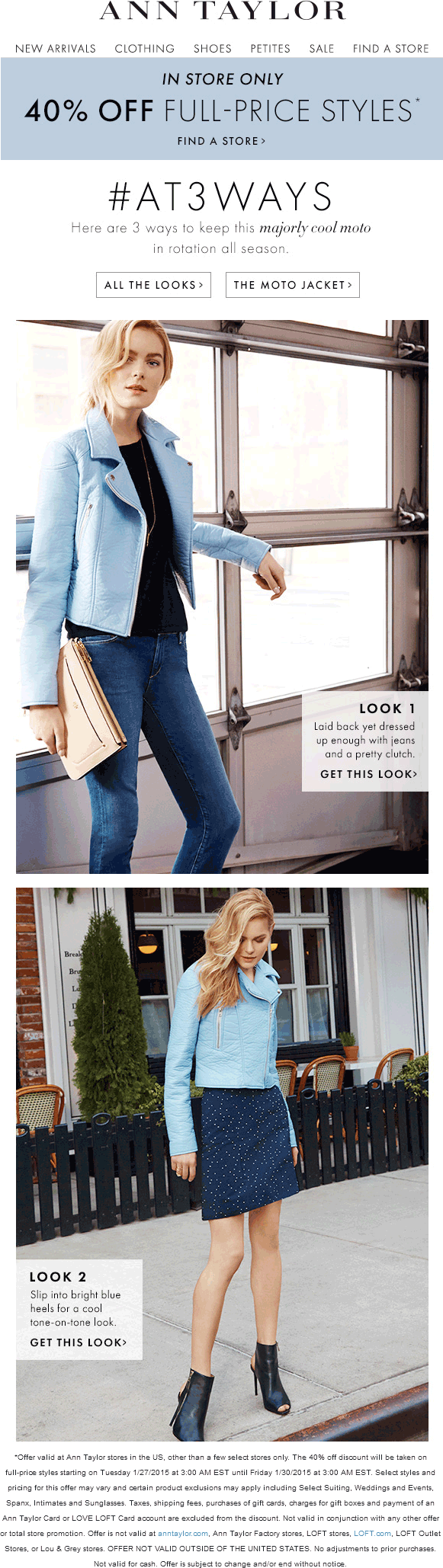 Ann Taylor Coupon September 2017 40% off at Ann Taylor