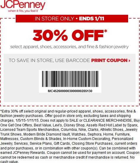 JCPenney Coupon September 2019 30% off at JCPenney