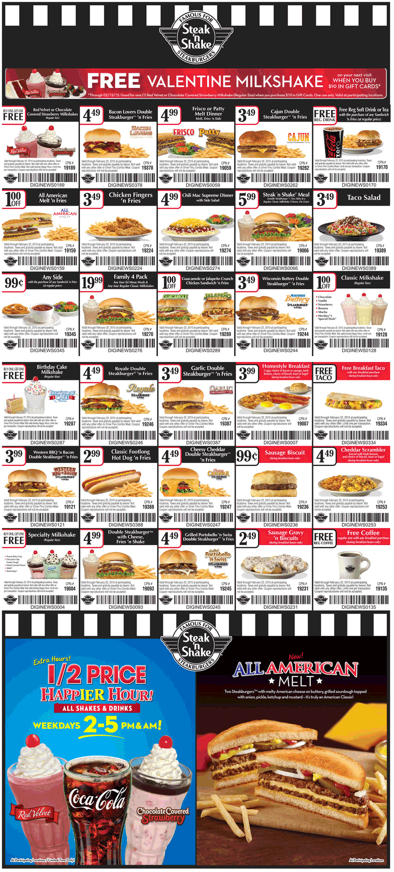 Steak n Shake Coupon October 2016 Second shake free, free coffee & more at Steak n Shake restaurants