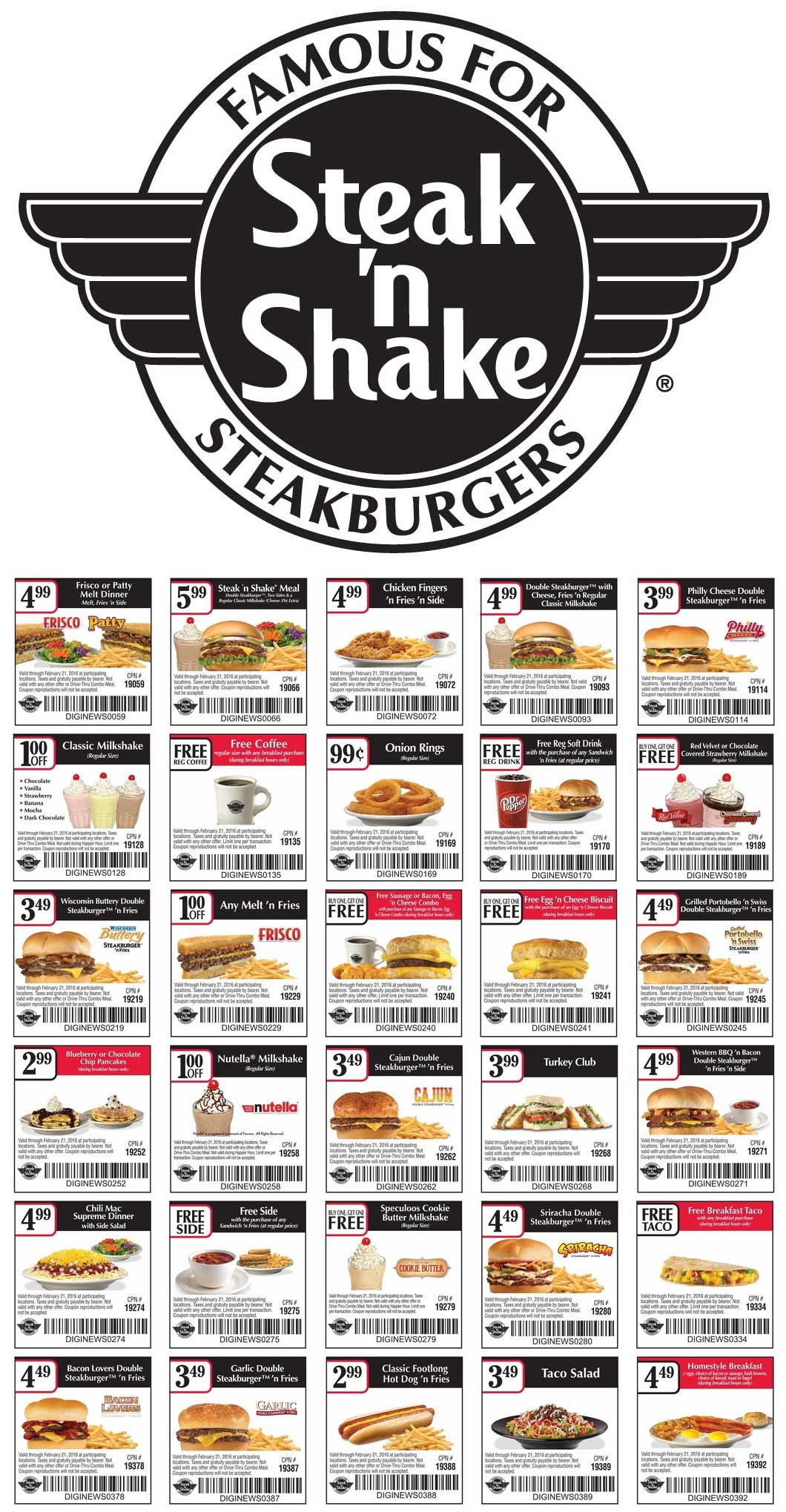 Steak n Shake Coupon March 2018 Free coffee, drink, second breakfast combo & more at Steak n Shake
