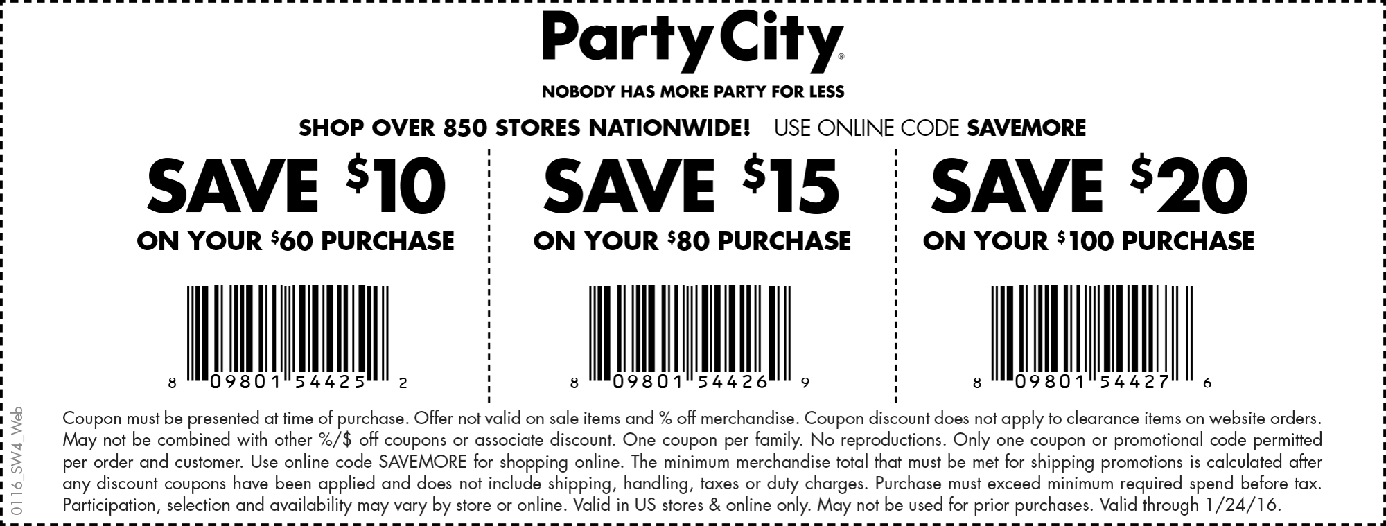 Party City Coupon April 2017 $10 off $60 & more at Party City, or online via promo code SAVEMORE