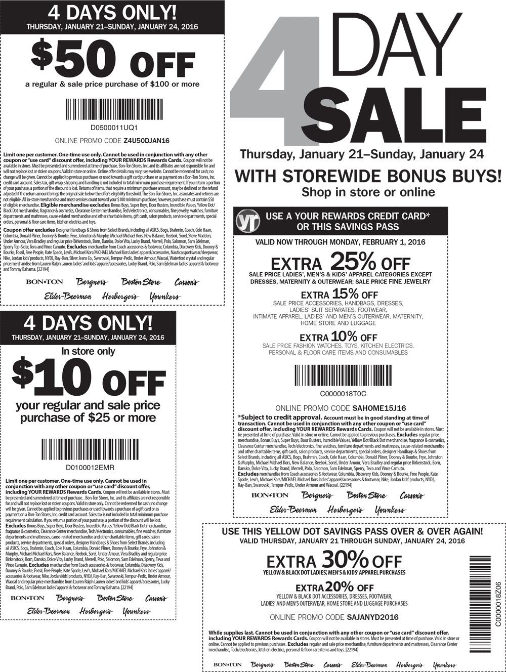 Carsons Coupon September 2018 $50 off $100 & more at Carsons, Bon Ton & sister stores, or online via promo code Z4U50DJAN16