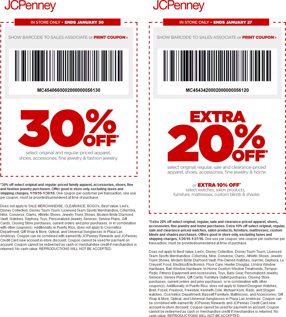 JCPenney Coupon November 2017 Extra 30% off at JCPenney