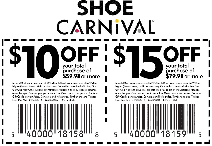 Shoe Carnival Coupon January 2017 $10 off $60 & more at Shoe Carnival