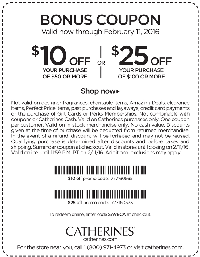 Catherines Coupon April 2019 $10 off $50 & more at Catherines, or online via promo code SAVECA